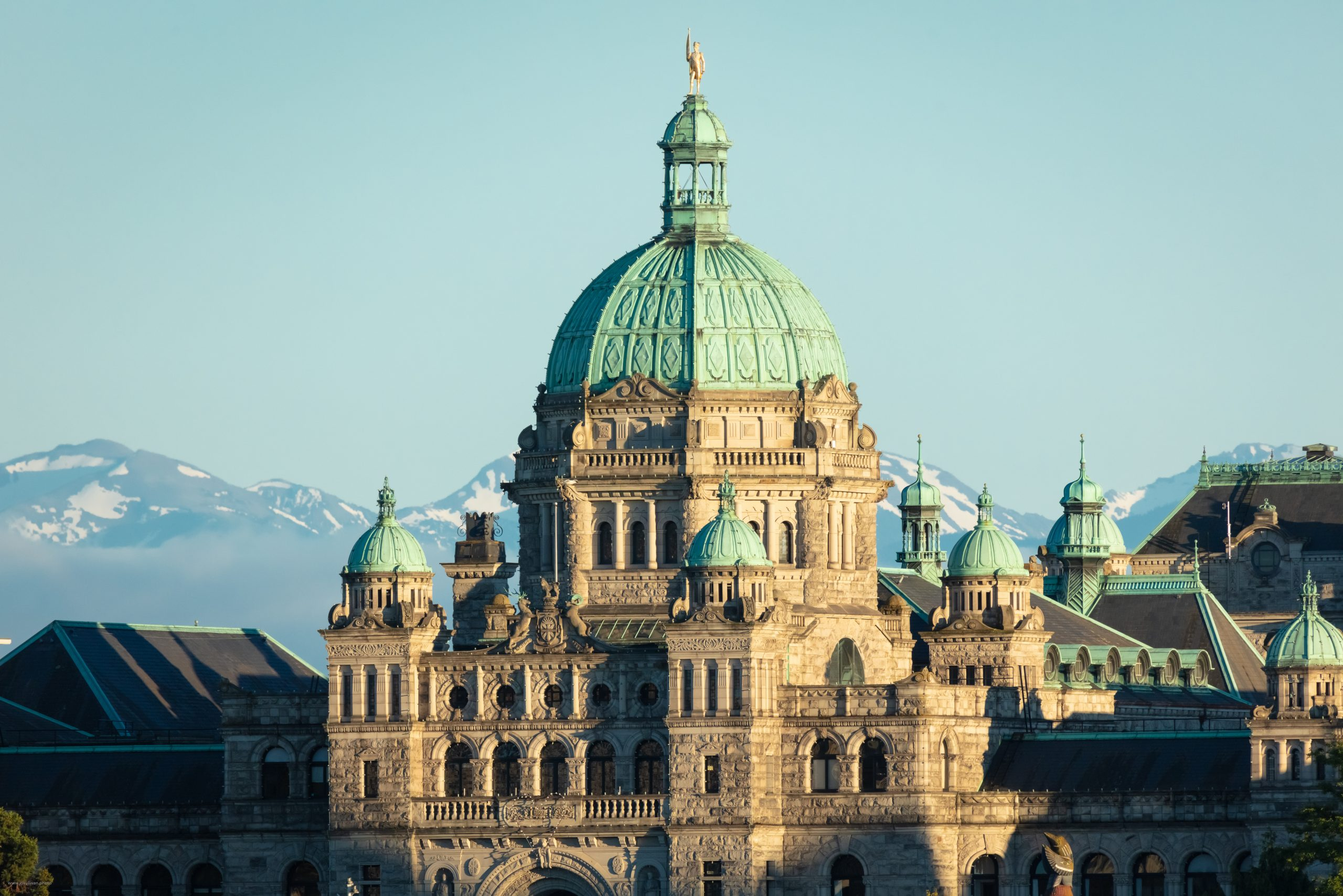 The domed top of the BC Parliament Building