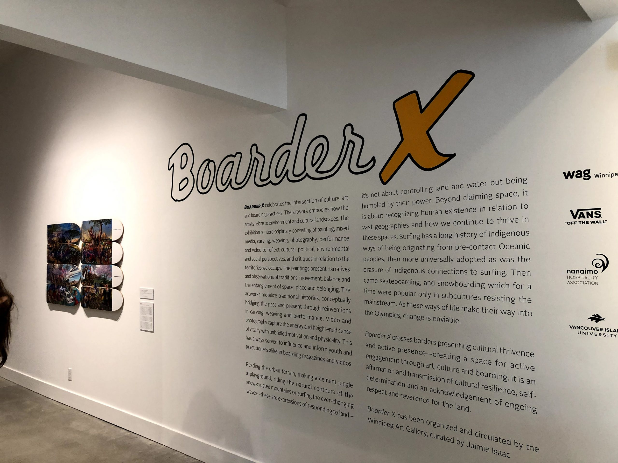 Opening section of the Boarder X gallery